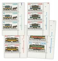 DDR MiNr. 3015/3018 DV ** Historische Straßenbahnen