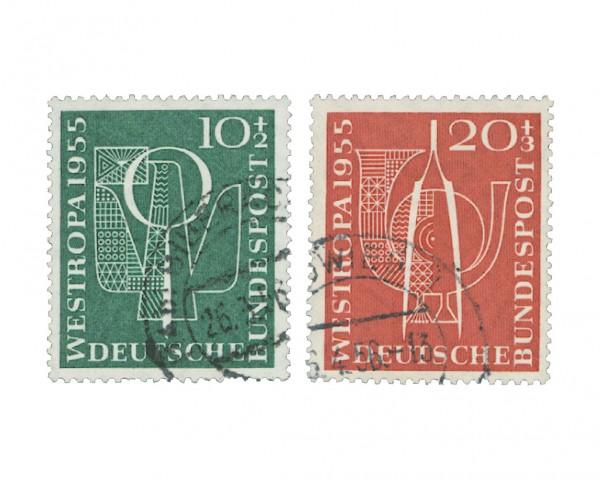 BRD MiNr. 217/18 o Westropa 1955
