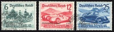 Dt. Reich MiNr. 695/97 o Nürburgring-Rennen 1939