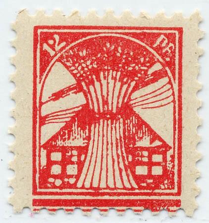 SBZ M./V. MiNr. 18 Ib ** - 12Pf. rosa, Platte 1