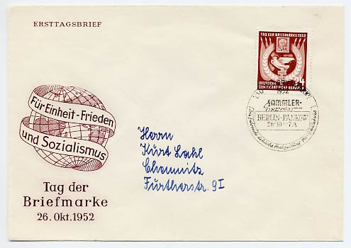 DDR FDC MiNr. 319 Tag d. Briefmarke