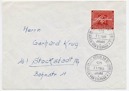 BRD FDC MiNr. 227 / Esost Berlin SW 61 Heinrich von Stephan