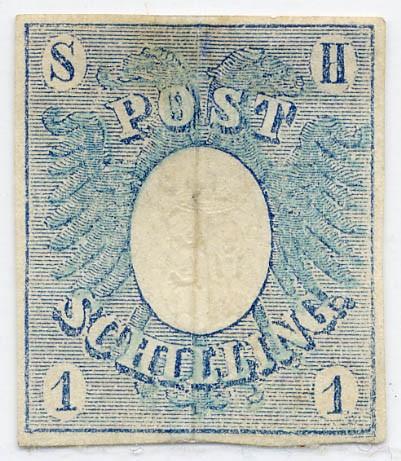 Schleswig-Holstein MiNr. 1a (*) 1 Schilling - mittelpreußischblau