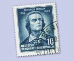 DDR MiNr. 465 AxI o 10Pf. 150.Todestag v. Friedrich Schiller
