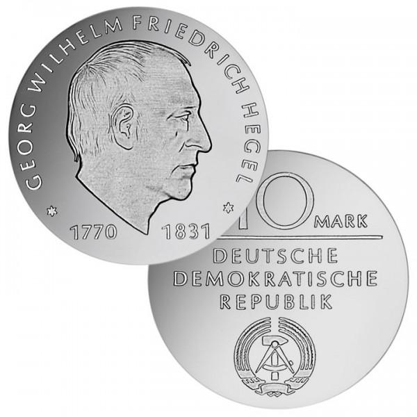 DDR Münze 1981, 10 M, st 150. Todestag Georg Hegel