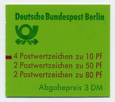 Berlin MH 14 ** mZ / Sehenswürdigkeiten 1989 mit Zählbalken /(Abgabepreis 3 DM)