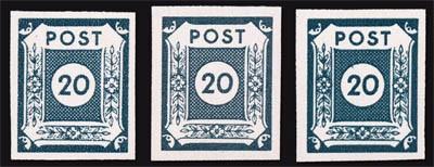 SBZ Ost-Sa. MiNr. 48 ** 20 Pf,Farbe a, b, c