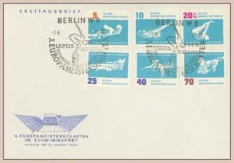 DDR FDC MiNr. 907/12 Schwimm-EM