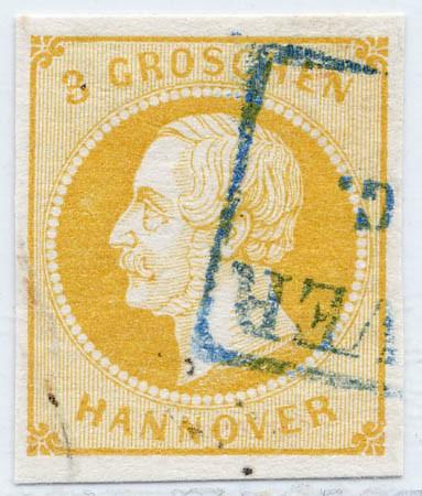 Hannover MiNr. 16a o 3 Groschen / orangegelb / geschnitten