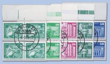 DDR MiNr. 1868, 1869, 1947, 1948 und 2022