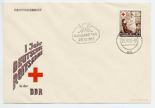 DDR FDC MiNr. 385 Rotes Kreuz