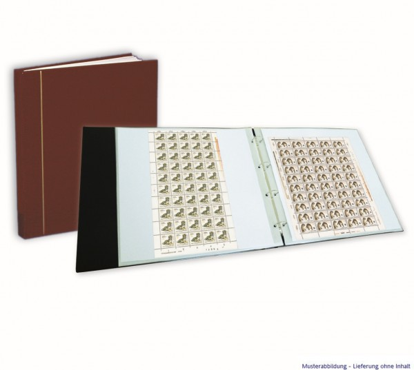 Zubehör Bogen-Album weinrot, 4-Ring-Mechanik Format 380x340 x40 mm, ohne Inhalt
