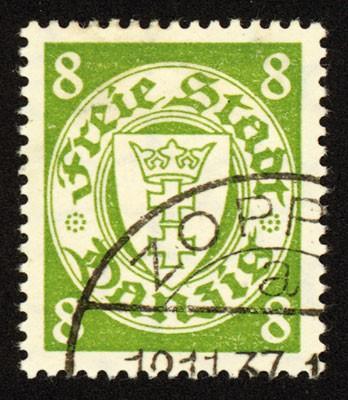 Freie Stadt Danzig MiNr. 273 o Staatswappen im Kreis (IX)/ Wz 3Y