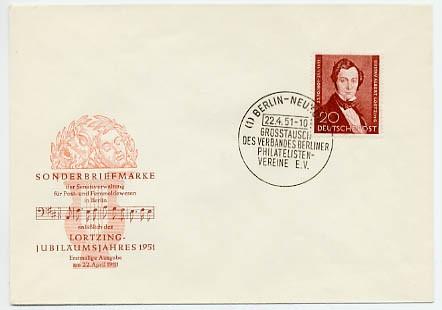 Berlin FDC Mi-Nr. 74 100. Todestag Albert Lortzing