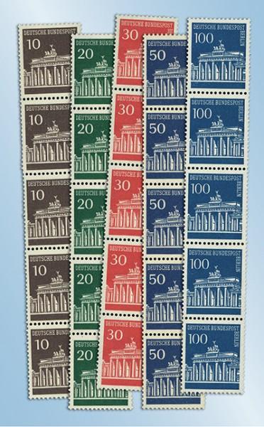 Berlin Rollenmarken - 5er-Streifen ** Brandenburger Tor MiNr. 286/290
