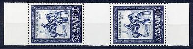 Saarland MiNr. 316 ** ZS-Paar
