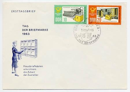 DDR FDC MiNr. 998/99 Tag d. Briefmarke