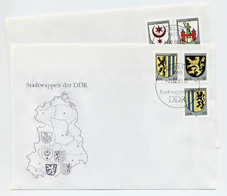 DDR FDC MiNr. 2857/61 Stadtwappen II
