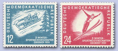 DDR MiNr. 280/81 ** Wintersportmeisterschaft Oberhof