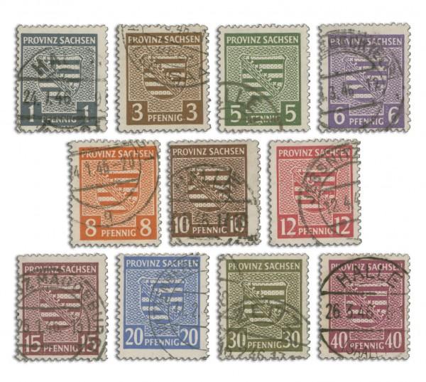 SBZ Prov.Sa. MiNr. 73/84Y o Provinzwappen, 11 Werte, geprüft