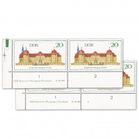 DDR MiNr. 1380 ** DV mit u. ohne PLF 20 Pf Schloss Moritzburg