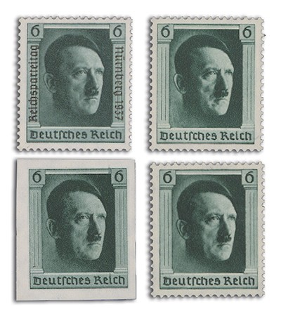 Dt. Reich MiNr. 646, 647, 648, 650 **