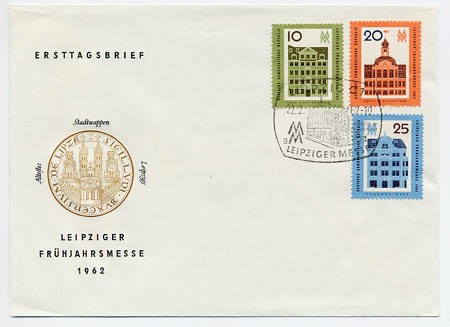 DDR FDC MiNr. 873/75 LFM 1962