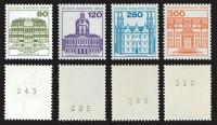 """Berliner Rollenmarken ** 21 x """"Burgen und Schlösser"""" mit Zählnummer"""