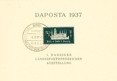 """Freie Stadt Danzig MiNr. 270b gf o Block 1b """"DAPOSTA 1937"""" - schwärzlichoplagrün"""