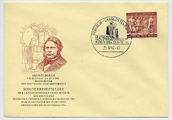 Berlin FDC Mi-Nr. 125 100. Todestag A. Borsig