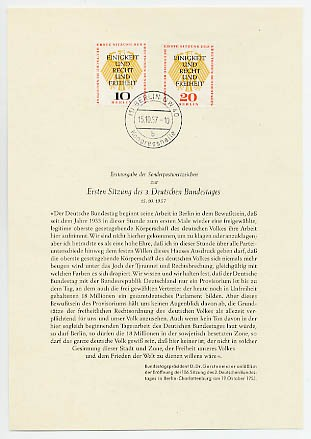 Berlin ETB-Nummer 29/ Mi. 174/75 o Amtliches ETB-WB / 1957