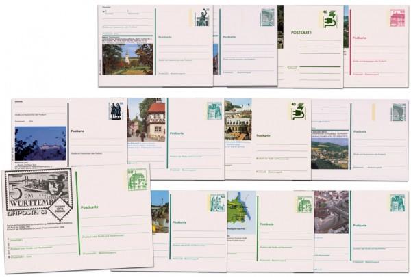 BRD Bildpostkarten Unfallverhüt. bis Sehenswürd **