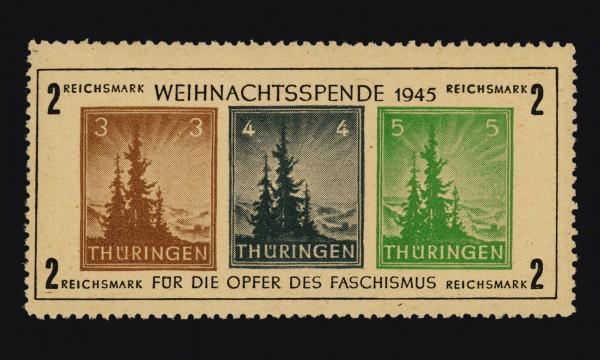 SBZ Thür. MiNr. Bl. 1t ** Weihnachtsspende 1945, mit Foto-Attest