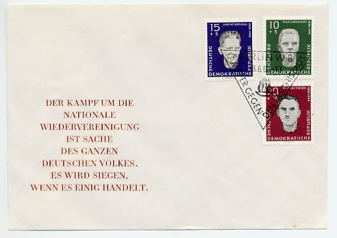 DDR FDC MiNr. 765/67 Antifaschisten