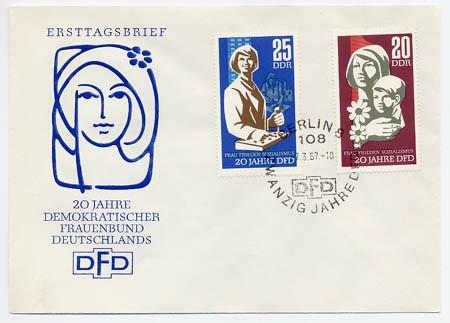 DDR FDC MiNr. 1256/57 Frauenbund