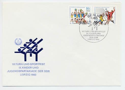 DDR FDC MiNr. 2814/15 Turn-u. Sportfest