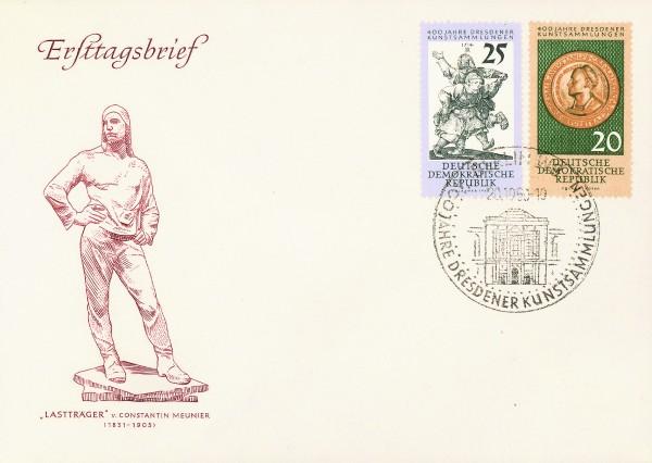 DDR FDC MiNr. 791/92 Kunstsammlungen