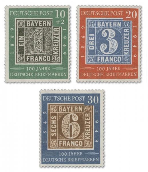 BRD MiNr.113/15 ** 100 Jahre deutsche Briefmarke
