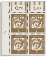 """BRD MiNr. 348 ** 7Pf. Eckrandstück mit DZ FM Bedeutende Deutsche """"Elisabeth"""""""