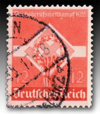 Dt. Reich MiNr. 572y o gepr. 12 Pf Reichsberufswettkampf