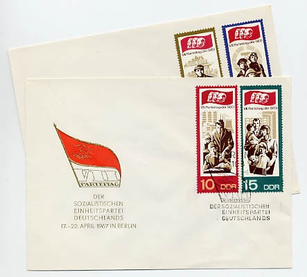 DDR FDC MiNr. 1268/71 7. Parteitag d. SED