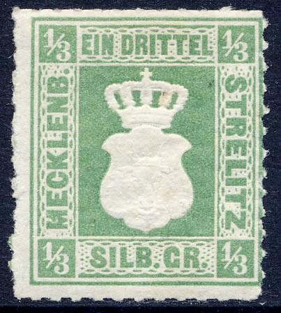Mecklenb.-Strelitz MiNr. 2a * 1/3 Silbergroschen olivgrün