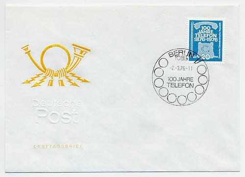 DDR FDC MiNr. 2118 100 J. Telefon