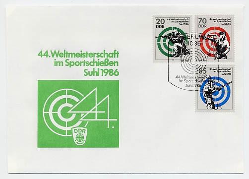 DDR FDC MiNr. 3045/47 Sportschießen-WM