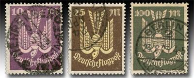 Dt. Reich MiNr. 235/37 o Flugpostmarken: Holztaube (II)