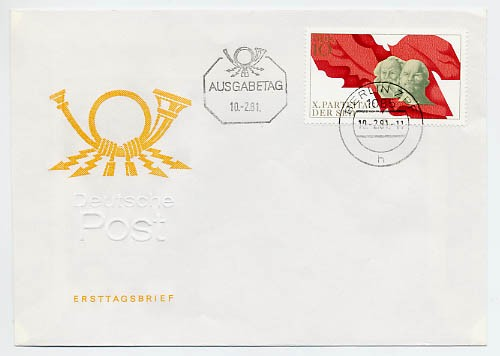 DDR FDC MiNr. 2582 10. Parteitag d. SED