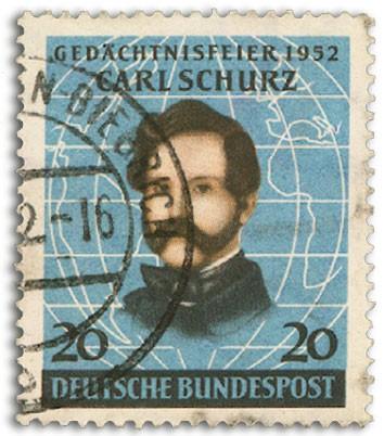 BRD MiNr. 155 o 100. Jhrstg. D. Landung v. C. Schurz