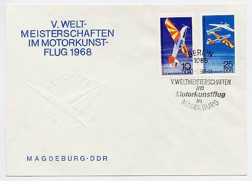 DDR FDC MiNr. 1391/92 Motorkunstflug