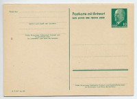 """DDR Ganzsache P 73 * 10/10Pf.  Walter Ulbricht, ohne Aufdruck """"Postleitzahl"""""""