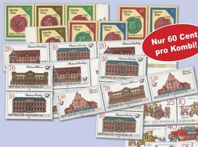 DDR 10 Zdr.-Ausgaben ** als Kombinationen
